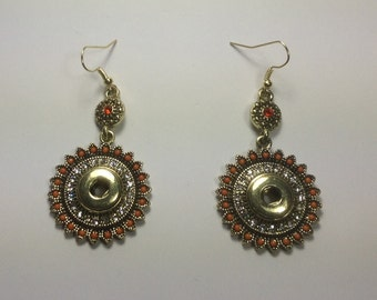 New! 12mm HANGING SNAP EARRINGS...Gorgeous...Fits 12mm snaps