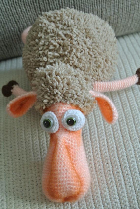 Etsy Amigurumi Sheep : Sheep soft toy handmade. Amigurumi.