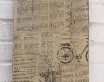 Newspaper Wall Art / Wall Decor' / Newspaper Art