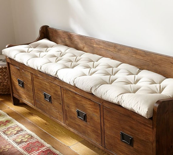 Custom Made Tufted Bench Cushion School House Bench Cushion