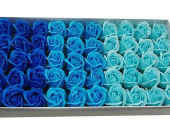 50 pcs SOAP ROSES with beautiful scent!! Bulk flowers,Flower soap,Artificial flowers,House decoration,Rose soap,Bathroom decoration, favors