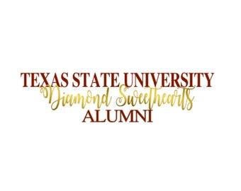Texas State DSweets Alumni Car Decal