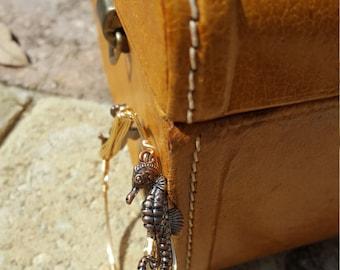 Antique seahorse bangle bracelet