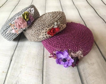 Cod T1 crochet hat, Baby girl hat, Newborn hat , Photo Prop,toque,hand bracelet