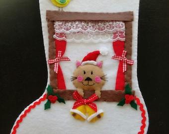Christmas Kitty Stocking
