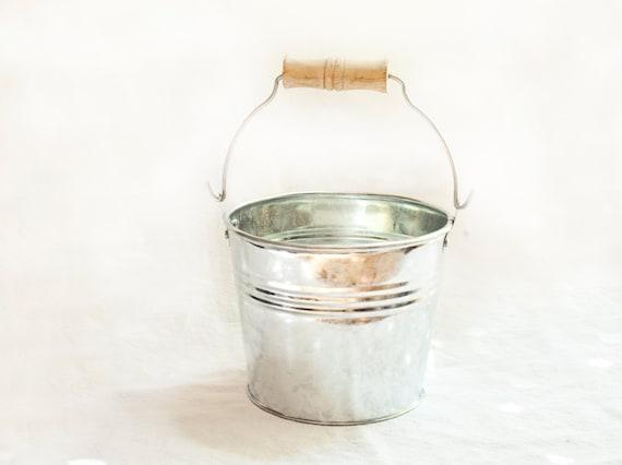 Small metal buckets bulk galvanized bucket by thetinyhousefarm for Galvanized metal buckets small
