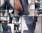riservato per joel !! Boots !! Leather boots of the Italian police motorcyclist 90 's !