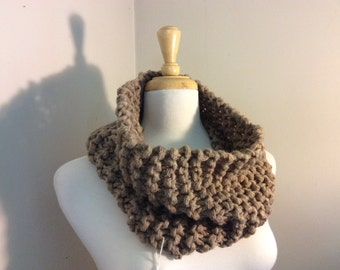 Hand-knit Rustic Bulky Cowl