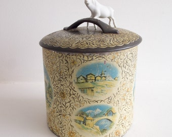Vintage biscuit barrel or tin