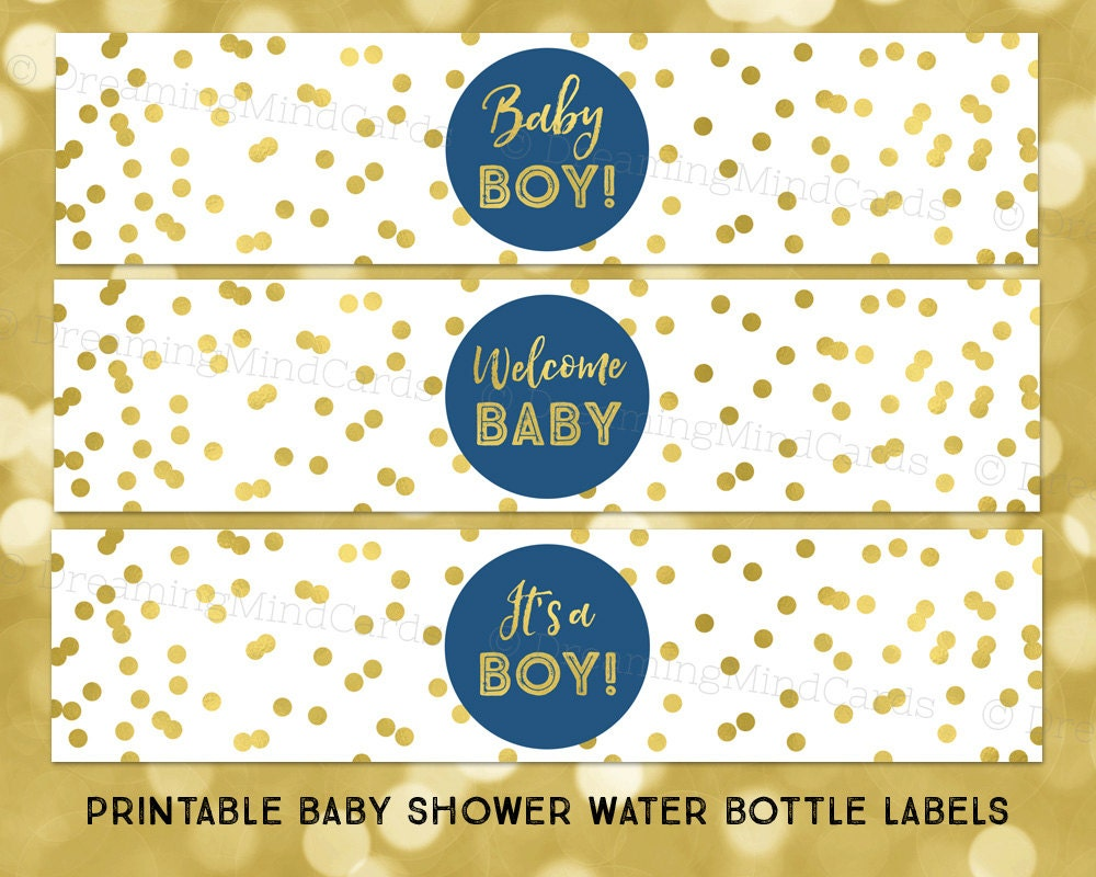 Decisive image with printable baby shower labels