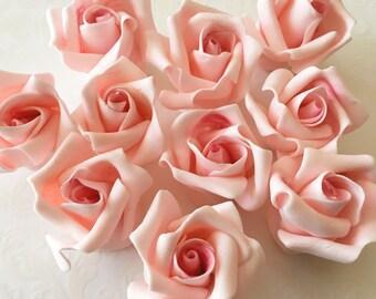 12 Small Fondant Roses Gumpaste Roses Sugar Roses Edible Roses Edible Flowers Icing Flowers