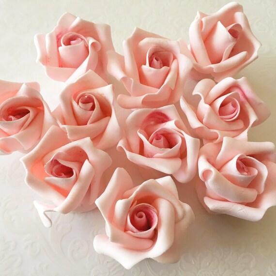 12 Small Fondant Roses Gumpaste Roses Sugar Roses Edible Roses-8820