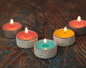 Soy tealights, highly scented pack of 4