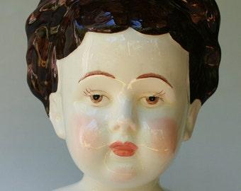 Ceramic Doll Bust