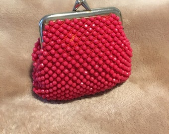 Ruby Red Coin Purse Antique