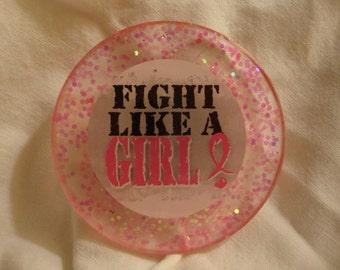 awareness magnet, resin magnet, pink magnet, girl magnet, cute magnet,cancer awareness magnet,awareness items,refrigerator magnet (item187)