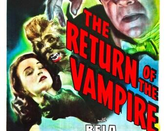 The Return of the Vampire (1944) Movie Poster Bela Lugosi