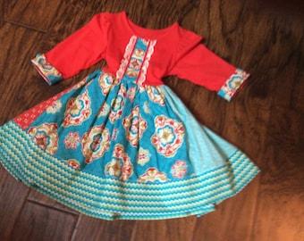 Puddintang China Doll dress.  Size 2T