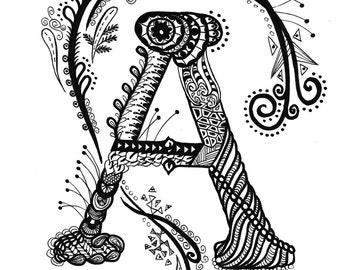 Zentangle Monograms