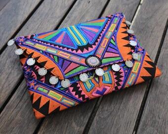 Tribal Clutch/Ipad Pouch - Orange