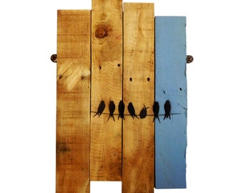 Birds On A Wire Wall Art Decoration