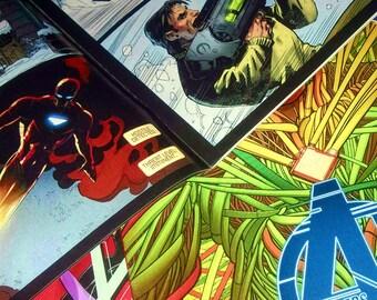 Custom Comic Book Marvel / DC Graphic Canvas by StarkeMatter - Superhero Comic Book Wall Art Decor