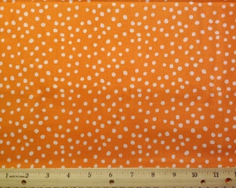 Orange Background Pook-a-dot Fabric