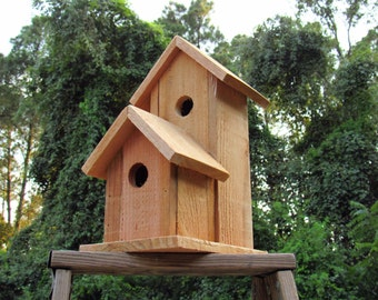 Unfinished birdhouse, cedar birdhouse, garden decor, reclaimed wood