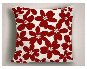 Throw Pillows with Modern Design, Red Decorative Pillows, Modern Pillow Covers