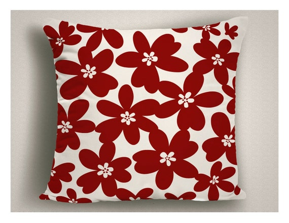 Modern Red Decorative Pillows : Throw Pillows with Modern Design Red Decorative Pillows