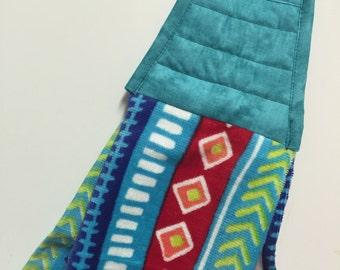 Southwestern towel etsy for Southwestern towel bars