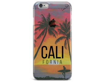 Clear iPhone and Samsung case, clear iPhone 7 case,clear Samsung S7 edge case,iPhone SE case,clear Samsung S7 case California Sunset