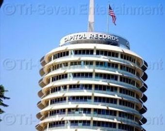 Capitol Records Building Photo Hollywood California Color Music Wall Art Los Angeles Original