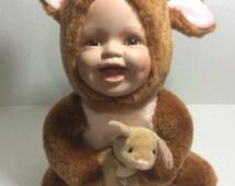 Baby Porcelain in Kangaroo Costume