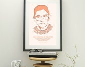 Ruth Bader Ginsburg - Law School Graduation Gift - Inspirational Quote - Law Student Gift - Home Office Decor - Law Office Decor