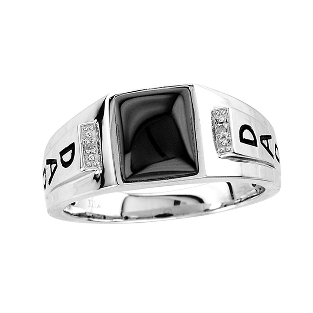 Dad Ring 925 Sterling Silver Ring Black Onyx Dad Ring. Frame Engagement Rings. Baguette Diamond Wedding Rings. Saffron Wedding Rings. Kays Engagement Rings. Vvs Rings. Cheap Halo Engagement Wedding Rings. Pave Band Wedding Rings. Princess Diaries Engagement Rings