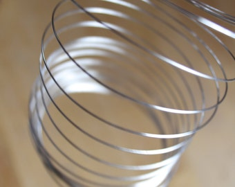 Memory Wire (40 & 100 Contunous Loops) 6mm with 60mm Diameter - Stainless Steel Silver Coloured