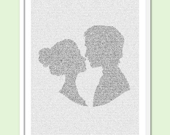 Pride and Prejudice - Text Art Print - Free AU Shipping