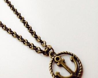 Sale | Anchor | Rope | Nautical | Mermaid |  Pretty | Cute | Necklace