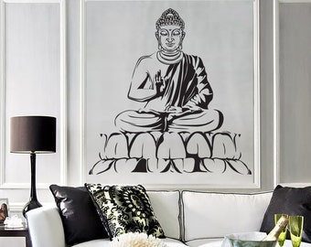 Wall Vinyl Decal Buddha Yoga Meditation Relaxation Zen Bedroom Decor 1284dz