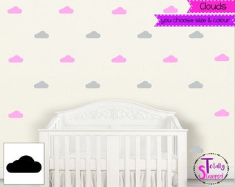 Cloud clouds wall decals, Wall Stickers, Wall Art, Nursery, Boys or Girls, Kids room