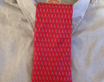 Men's Red Silk Tie by Brooks Brothers Made in the USA.