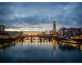 PS0336 Poster Print The london Skyline Cityscape River Thames Capital ART