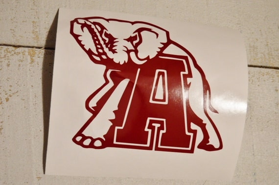 Alabama decal roll tide decal football by for Alabama football mural