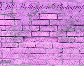 DIGITAL Brick Wall, purple, lilac, background, backdrop for photography, photos, photographers