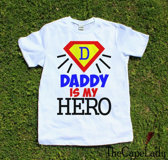 Usaprint Fathers Day Dad T Shirt My Dad My Hero Design T: Daddy Is My Hero Father And Son Boys Shirts Kids Tee