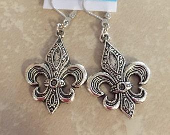 Fleur Di Lis Earrings
