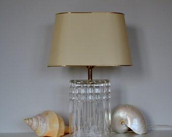 Crystal Table Lamp Hollywood Regency Style Made in Italy 1970 home decor Interior Design