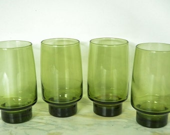 Green Drinking Glasses from Libbey