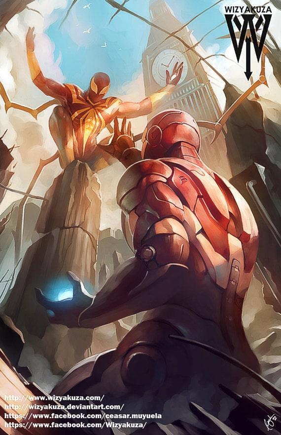 Iron Man vs. Spider-Man The Iron Spider Marvel: by Wizyakuza